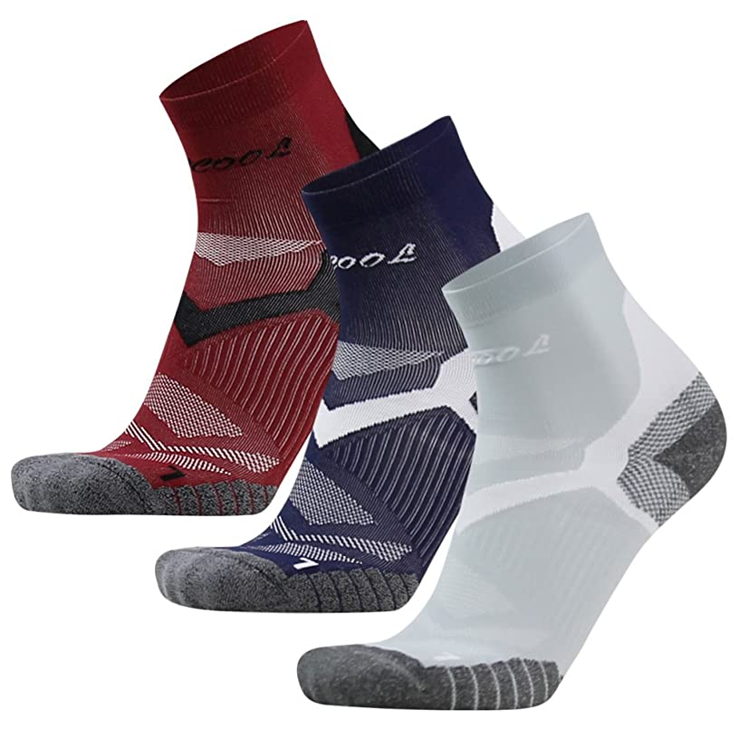 Facool Men's Arch Support Ankle/Quarter Athletic Running Walking Cushion Sports Socks 3/6 Pairs