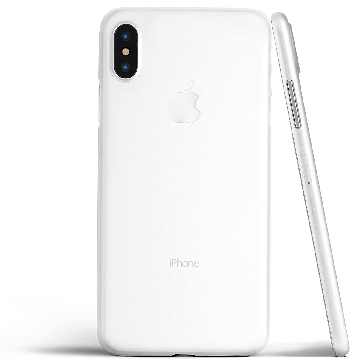 Thin iPhone Xs Case, Thinnest Cover Ultra Slim Minimal - for Apple iPhone Xs (2018) - totallee (Frosted Clear) klwzj3496