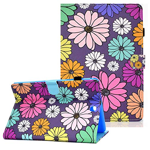 Coopts Galaxy Tab A 9.7 Cases and Covers for SM-T550/SM-P550, Colorful PU Leather Magnetic Cover with Multi-Angle Viewing Stand Shockproof Sleeve for Samsung Galaxy Tab A 9.7 inch 2015, Colorful Daisy