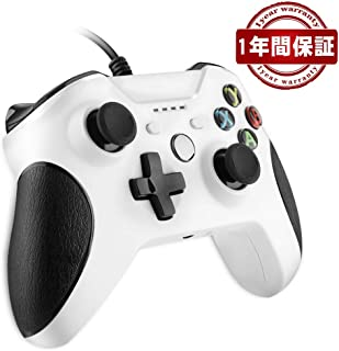 【在庫を売り叩く】Xbox ONE コントローラー ゲームパッド有線PC適応 RegeMoudal PC ゲームコントローラ有線 USB Windows PC (XP、WIN7、WIN8、WIN10) 二重振動 人体工学(白)