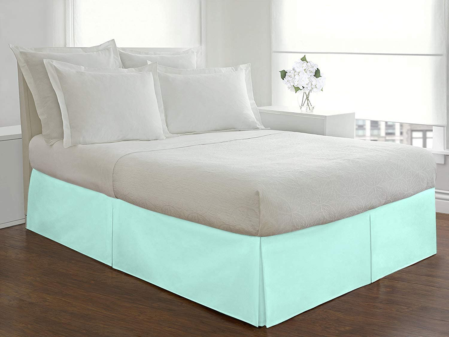 Fabricom Box Pleated Bed Skirt Queen Lon Drop inch Size メーカー直売 16