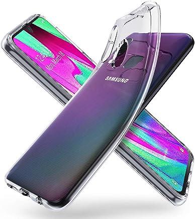 70428e1c38f ORNARTO Funda para Samsung A40, Transparente Delgada Silicona Flexible  Ajuste Proteger Caso Absorci?n