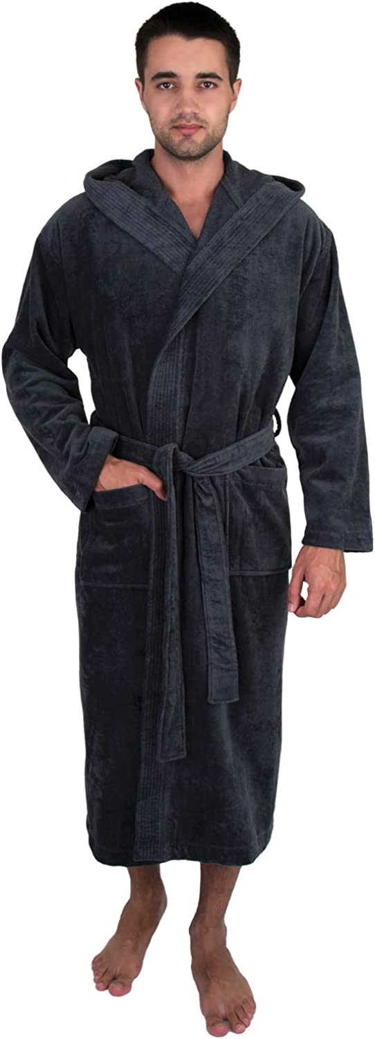 TowelSelections 25% OFF OFFicial mail order Men's Hooded Cotton Robe Spa Cloth Terry Luxury