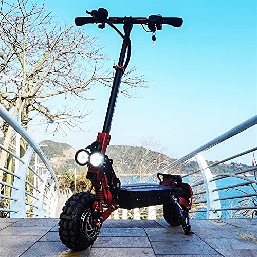 HTRTH Rueda de 11 Pulgadas 240 0W E Scooter con 48V Dual Motor Fuerte Potencia Scooter ELÉCTRICO 902 (Color : Red)