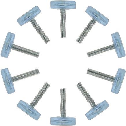 con attacco a T confezione da 16 Piedini di livellamento per mobili per gambe della sedia Sourcingmap M10 x 25 x 35 mm