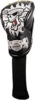 Crtystal Leather Skull Head Embroidery Style Golf Club Headcover Set Protector for Callaway Ping Cobra Mizuno