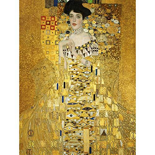 Gustav Klimt Portrait of Adele Bloch Bauer I Old Art Painting Print 12x16 inch 30x40cm Porträt Werbung Farbe