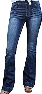 Womens Jeans Classic Skinny Straight High Waist Leg Denim Casual Pants