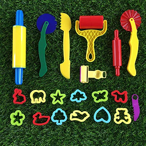 WYJW Ucradle Teigzubehör, Kinderteig Kunststoffschneider Werkzeugset Küche Spielzeug Modellierwerkzeug, 1