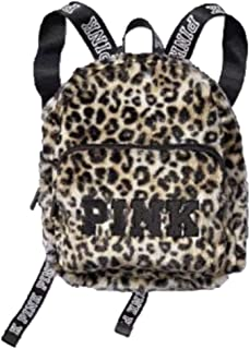 victoria's secret pink leopard print backpack