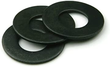 18-8 Stainless Steel Black Oxide Flat Washers - 1/4 INCH (ID 0.281 x OD 5/8 x Thick 0.050) - Qty 100