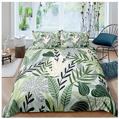 BAIYANG Aquatic Plant Pretty Bedding Set Queen 3D Cute Printed Duvet Cover Bedclothes 2/3Pcs Home Textiles Bedspread Single(135x200cm)