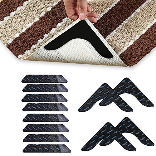 GiniHomer 12 PCS Rug Grippers, Non Slip Rug Pad, Non Slip Rug Gripper on Carpet for Hardwood Floors and Tile