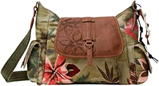 Desigual Fabric Shoulder Bag, Borsa a Tracolla. Donna, Verde, U