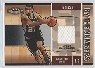 Tim Duncan (Basketball Card) 2003-04 Fleer Patchworks - By the Numbers - Jersey #BTN/TD