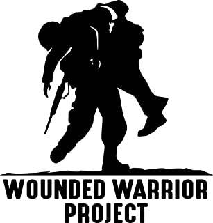 TGS Topshop Wounded Warrior Decal Window WWP War Support Awareness Bumper Sticker Car Decor Car Stickers 15cm
