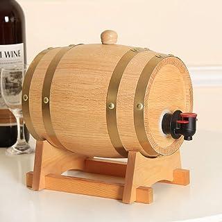 yunyu Baril personnalisé en fût de chêne - Baril sur vin en Bois de à de Temps bière de chêne Whisky Rhum Rhum, (Taille: ...