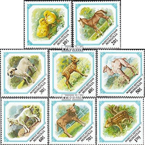 Prophila Collection Mongolei 1479-1486 (kompl.Ausg.) 1982 Jungtiere (Briefmarken für Sammler) Pferde