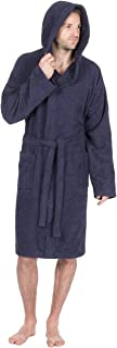 Pierre Roche Mens 100% Cotton Terry Towelling Hooded Robe/Dressing Gown