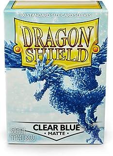 Arcane Tinman Card Sleeves: Dragon Shield Matte Clear Blue