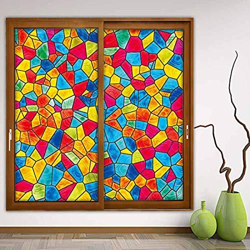 YGHBKL Fenster Film Glasmalerei Film Mosaike Kirche Transluzent Opak Statische Cling Klebefolie 55x120cm S-092