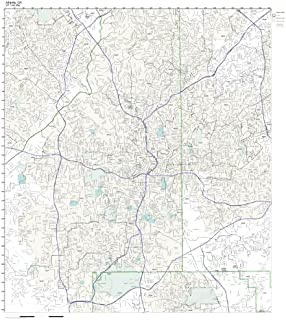Working Maps Zip Code Wall Map of Atlanta, GA Zip Code Map Laminated