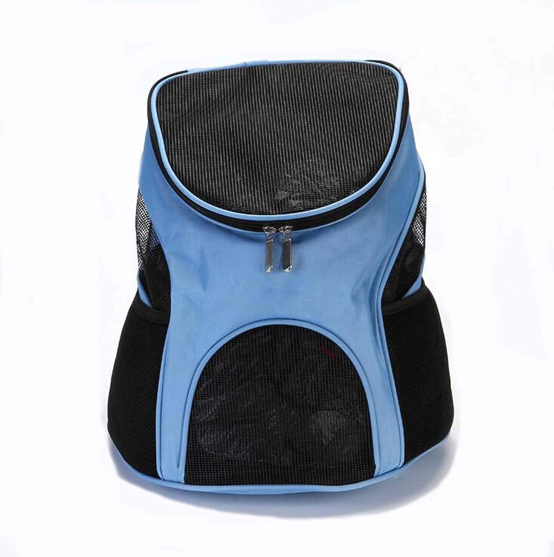 Pet Carrier Backpack, Pet Travel Bag,Breathable Mesh SoftSided Front Pouch Dog Carrier Backpack Pet Shoulder Bag,bluee