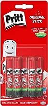 Pritt Colla Stick 5 x 11g, colla per bambini sicura e affidabile, colla Pritt per lavoretti e fai da te, con una tenuta forte per uso scuola e ufficio, 5 stick x 11g