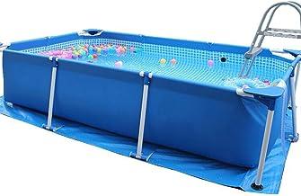 Piscina de Agua para Niños - Gran Capacidad de Agua - Impermeable y a Prueba de Herrumbre - Válvula de Drenaje Incorporada Piscina Desmontable Tubular - para Braza, Auto Brazada, Espalda, Etc