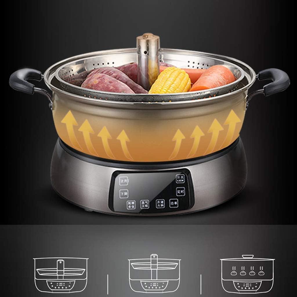 NXYJD Riz Automatique Pot de Levage électrique Intelligent à Chaud des ménages Multi-Fonction à Grande capacité électrique Hot Marmite 4-6-10 Personnes (Color : B) A