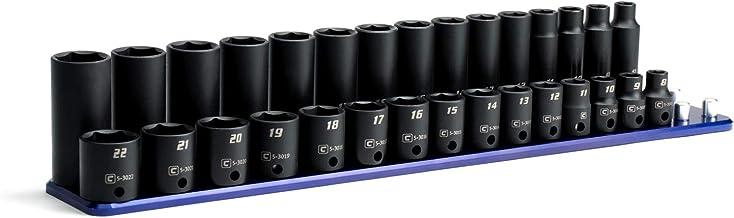 Capri Tools 3/8-Inch Drive Shallow and Deep Impact Socket Set, Metric, 8 to 22 mm,..