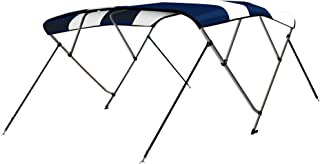 4 Bow Bimini Tops Boat Cover 4 Straps for Front and Rear Includes Hardwares with 1 Inch Aluminum Frame