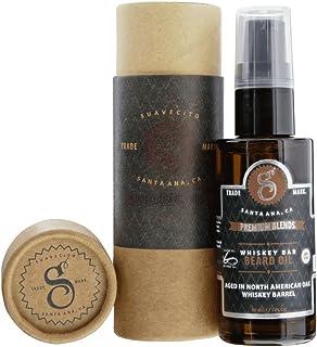 Suavecito Premium Blends Beard Oil - Whisky Bar Beard Conditioning Serum for Men (1 FL oz), Whiskey Bar