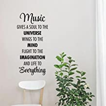 Rawpockets 'Music Quote' Wall Sticker (PVC Vinyl, 58 cm x 29cm, Black)