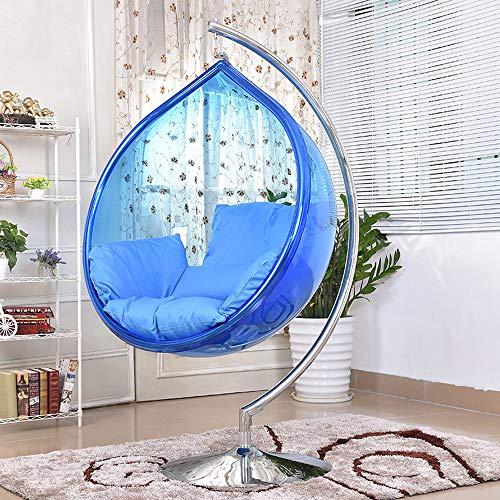 SMGPYHWYP Bubble Chair Space Chair, Cesta Interior para Adultos, Silla Colgante, Columpio, Silla hemisferio