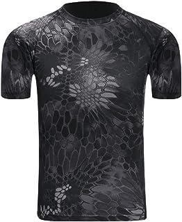 アウトドア 半袖Tシャツ 迷彩柄 タクティカル ストレッチ メッシュ サバゲー 速乾 吸汗
