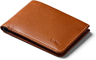 Bellroy Low Wallet, Slim Leather Wallet (Max. 12 Cards and Flat Bills) - Caramel