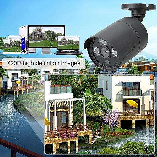 214 Cámara de Seguridad HD Negra 1280 * 720P, bajo Consumo de energía de reducción de Ruido 3D DC 12V 100-240V para Win7 / 8/10 / XP(Black, European regulations, Transl)
