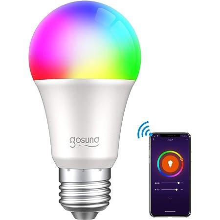 【Amazon Alexa認定】ゴウサンド(Gosund) WiFiスマート電球 スマート LED ランプ マルチカラー E26 スマートライト Alexa/Google home対応 1600万色 追加機器不要 1個