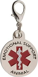 K9King Emotional Support Animal (ESA) Tag Double Sided Red Medical Alert Symbol 1.25