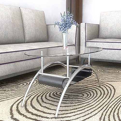 Ryan Rove Cleveland Oval Glass Coffee Table –...