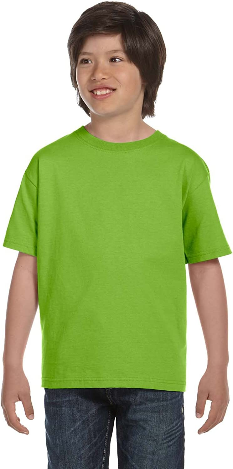 By Hanes Youth 61 Oz BEEFY-T - Lime - M - (Style # 5380 - Original Label)
