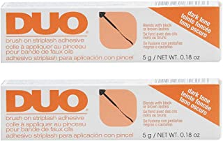 DUO Brush-on Strip Lash Adhesive, Dark, 0.18oz x 2 pack