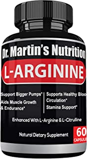 Extra Strength L Arginine 1340mg Nitric Oxide Supplements | for Muscle Growth, Increase Energy & Endurance & Boost Heart H...