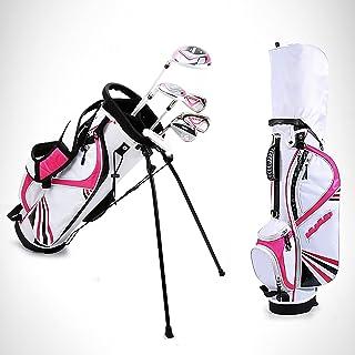 6-delige complete golfclubpakketset voor heren met driver Fairway Woods Hybrid, ijzers, putter, standaardtas Kies kleur en...