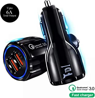 FD1 Qualcomm Certified,Quick Charge 3.0,Dual Port 36Watt Car Charger