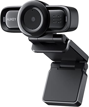 AUKEY Webcam 1080P Full HD, Autofocus e Microfoni con Riduzione del Rumore, Telecamera PC per Video Chat e Registrazione, Compatibile con Windows, Mac e Android - Confronta prezzi