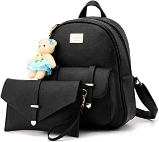 Women Teens Girls Casual Leather Backpack Purse Satchel Shoulder Bags College