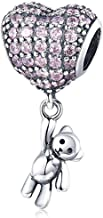 Junolla 925 Sterling Silver Mickey Minnie Mouse Charm Lovely Animal Bead Charms Family Forever Charms fit Pandora Bracelet Women Charms