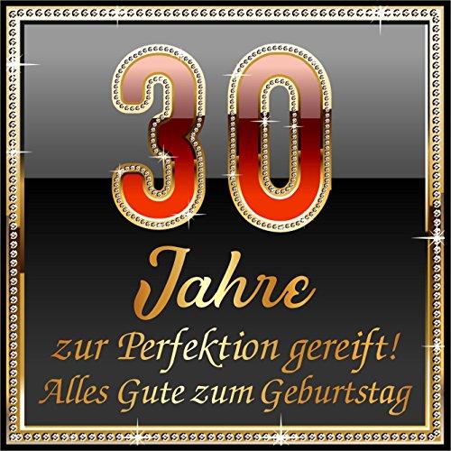 RAHMENLOS 3 St. Aufkleber Original Design: Selbstklebendes Flaschen-Etikett zum 30. Geburtstag: 30 JahreZur Perfektion gereift!